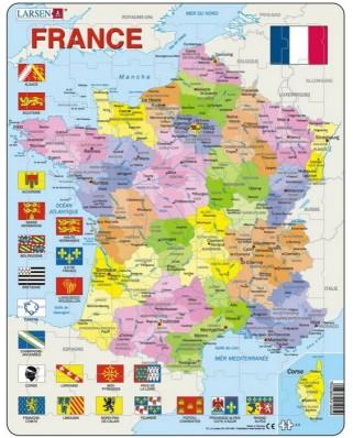 Puzzle Larsen - France, 70 piese (48134)