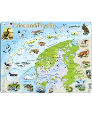 Puzzle Larsen - Friesland, Niederlande (auf Hollandisch), 64 piese (48632)