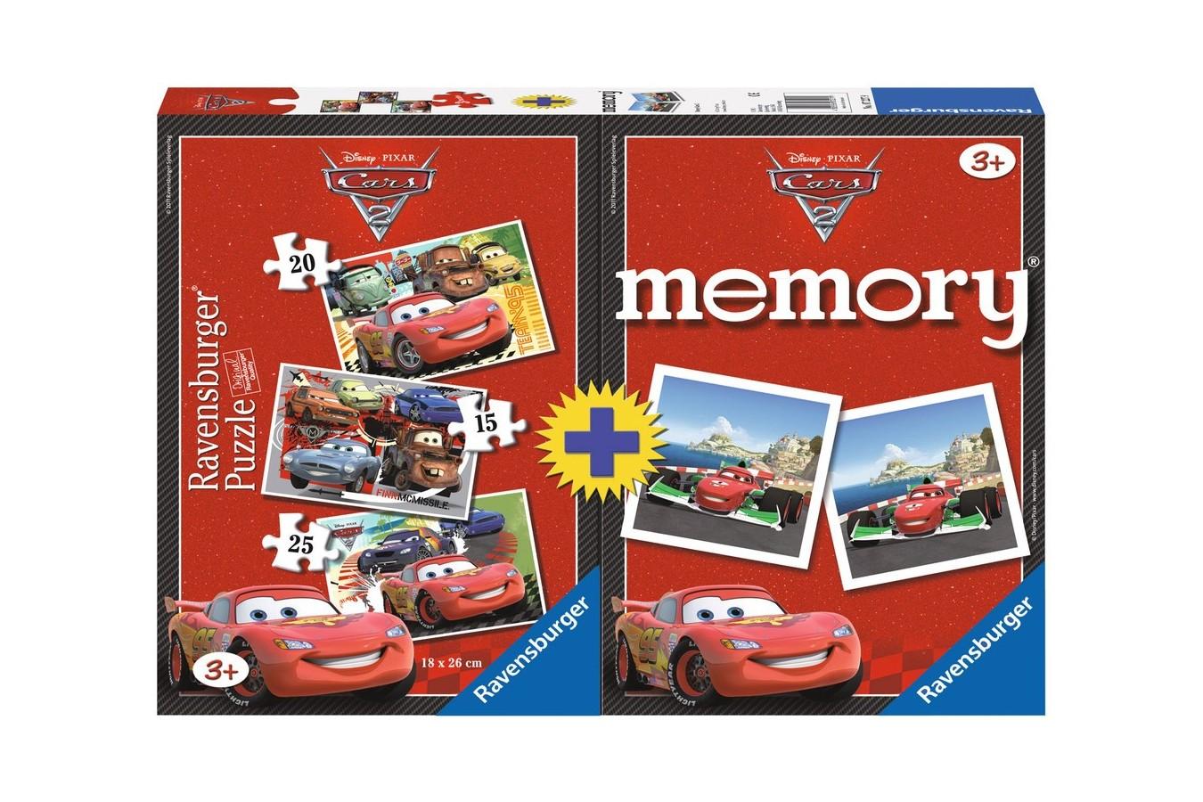 Puzzle Ravensburger - Disney Cars, 15/20/25 piese (07227)