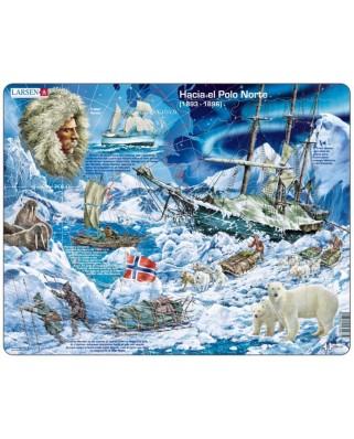 Puzzle Larsen - Hacia el Polo Norte (in Spanish), 65 piese (59552)