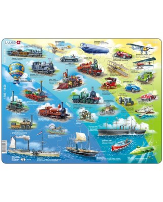Puzzle Larsen - Historical Vehicles (in Russian), 54 piese (59498)