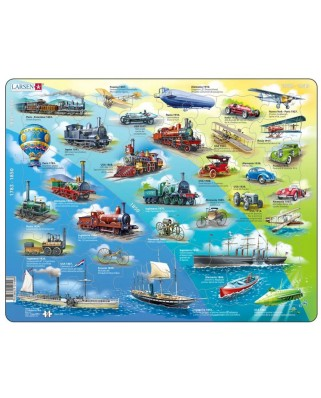 Puzzle Larsen - Historical Vehicles (in Spanish), 54 piese (61628)
