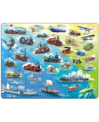 Puzzle Larsen - Historical Vehicles, 54 piese (59497)