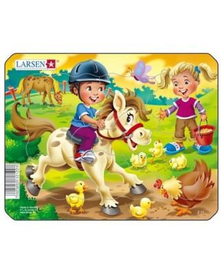 Puzzle Larsen - Horse, 9 piese (50871)
