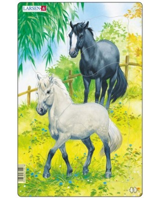 Puzzle Larsen - Horses, 10 piese (48543)