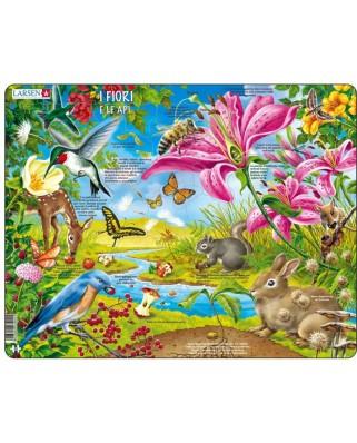 Puzzle Larsen - I fiori e le api (in Italian), 55 piese (63351)