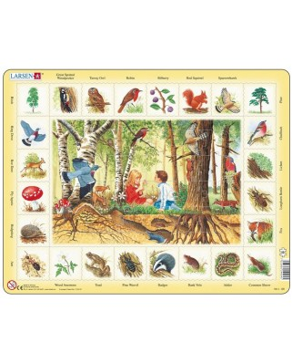 Puzzle Larsen - Im Wald (auf Englisch), 48 piese (48755)