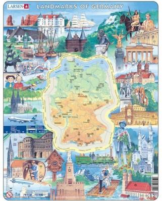 Puzzle Larsen - Landmarks of Germany, 80 piese (48659)