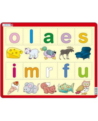 Puzzle Larsen - Learn the letters (Norwegian), 10 piese (48677)