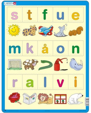 Puzzle Larsen - Learn the letters (Norwegian), 15 piese (48678)