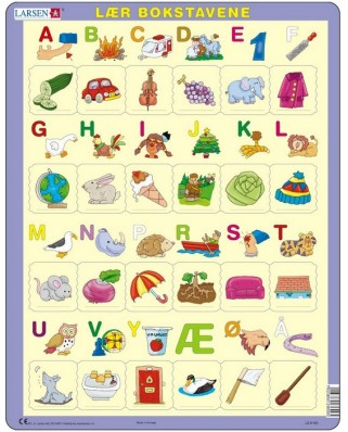 Puzzle Larsen - Learn the letters (Norwegian), 24 piese (48667)