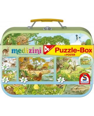 Puzzle Schmidt - Medizini, Four seasons, 2x26 + 2x48 piese, cutie metalica (56494)