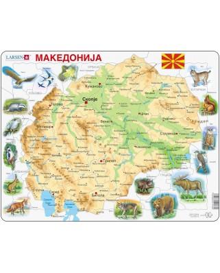 Puzzle Larsen - Macedonia Physical, 61 piese (48362)