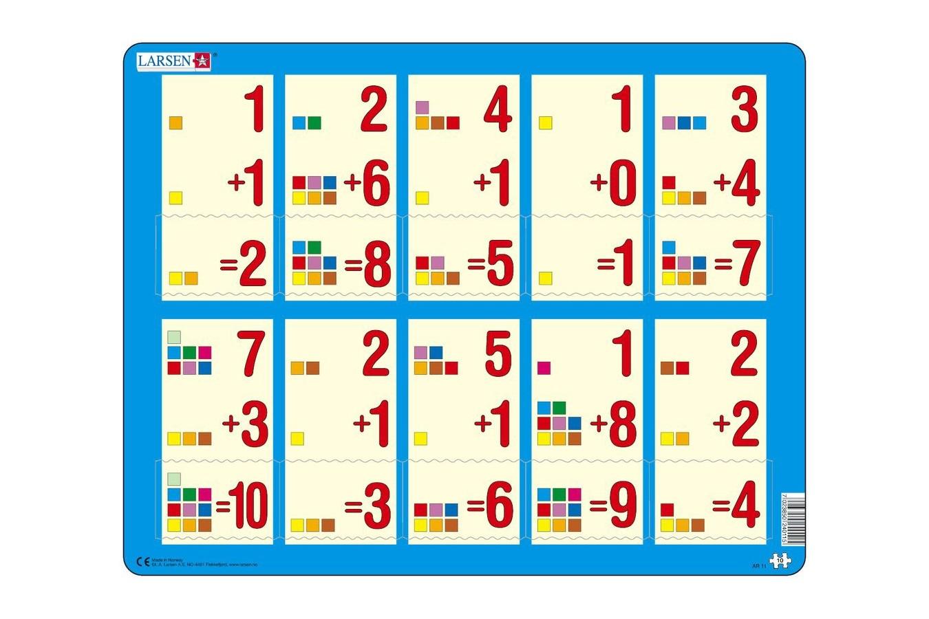 Puzzle Larsen - Mathematik: Addition von 1 bis 10, 10 piese (48383)