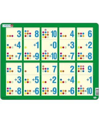 Puzzle Larsen - Mathematik: Addition von 1 bis 10, 10 piese (48384)