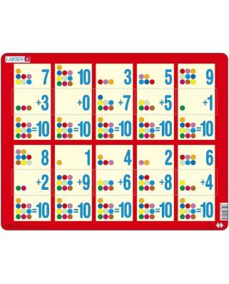 Puzzle Larsen - Mathematik: Addition von 1 bis 10, 10 piese (48385)