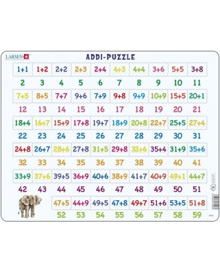 Puzzle Larsen - Mathematik: Addition, 58 piese (48380)