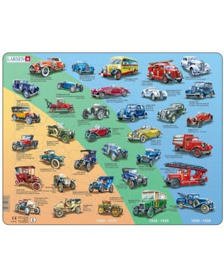 Puzzle Larsen - Old Cars (in German), 42 piese (59499)