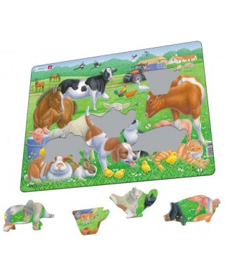 Puzzle Larsen - Pets and Farm Animals, 15 piese (59486)
