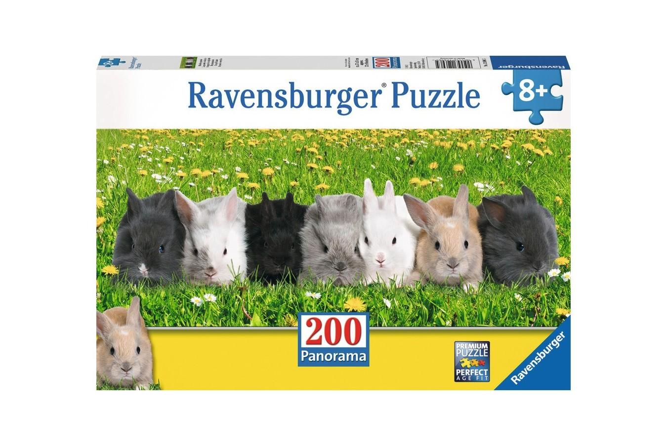 Puzzle panoramic Ravensburger - Parada Iepurasilor, 200 piese (12696)