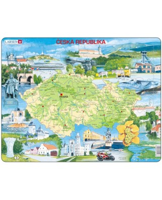 Puzzle Larsen - Physical Map of Czech Republic, 78 piese (48628)