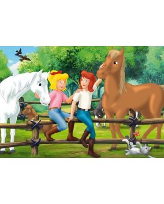 Puzzle Schmidt - Bibi & Tina, 2x100 + 2x150 piese, cutie metalica (56509)