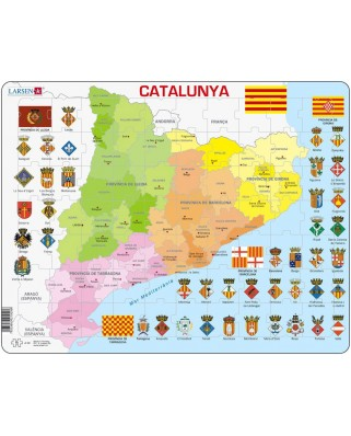 Puzzle Larsen - Political Map of Catalonia, 70 piese (48370)