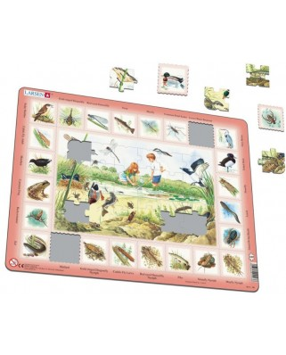 Puzzle Larsen - Pond (in French), 48 piese (59534)
