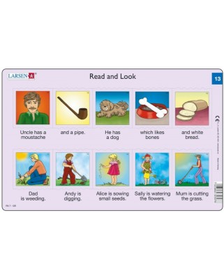 Puzzle Larsen - Read and Look 13-14, 2x10 piese (48597)