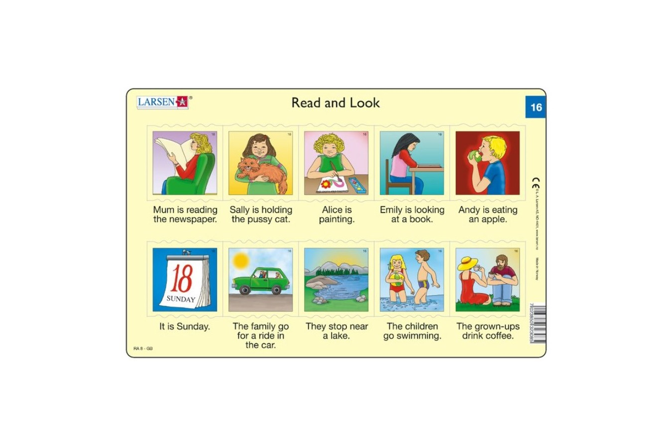 Puzzle Larsen - Read and Look 15-16, 2x10 piese (48599)