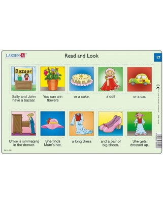 Puzzle Larsen - Read and Look 17-18, 2x10 piese (48601)