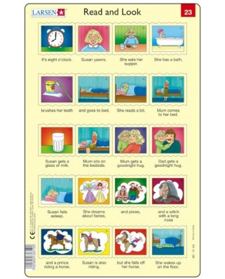 Puzzle Larsen - Read and Look 23-24, 2x20 piese (48607)