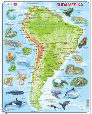 Puzzle Larsen - South America (in German), 65 piese (48368)