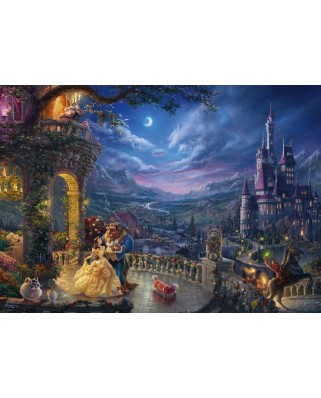 Puzzle Schmidt - Thomas Kinkade: The Beauty and the Beast, Dancing in the Moonlight, 1.000 piese (59484)