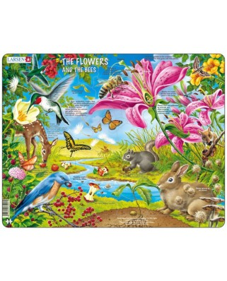 Puzzle Larsen - The Flowers and the Bees, 55 piese (59550)