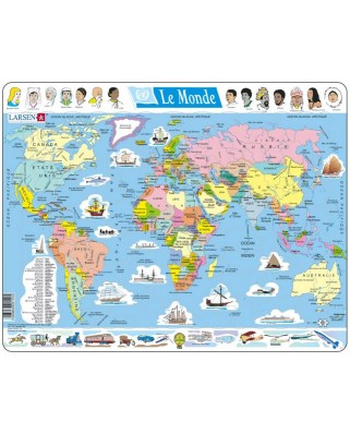 Puzzle Larsen - The World Political (in French), 107 piese (48736)
