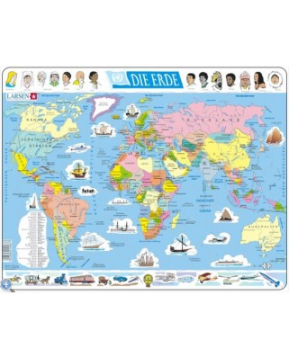 Puzzle Larsen - The World Political (in German), 107 piese (48441)