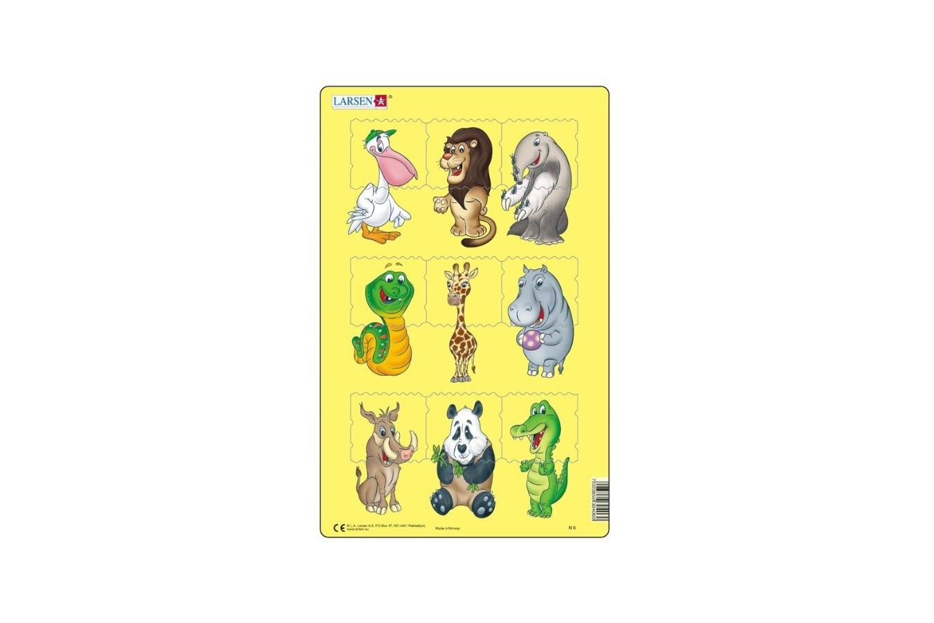 Puzzle Larsen - Tierbabies, 9 piese (48553)