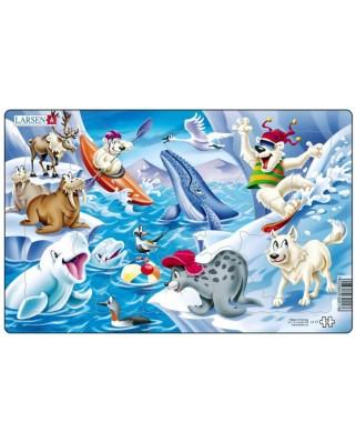 Puzzle Larsen - Tiere der Arktis, 17 piese (48580)