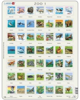 Puzzle Larsen - Tierpuzzle I (auf Franzosisch), 49 piese (48204)