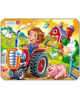 Puzzle Larsen - Tractor, 9 piese (50870)