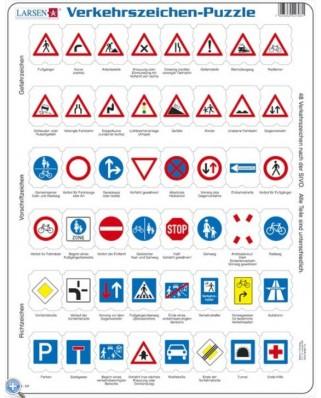 Puzzle Larsen - Traffic Sign (in German), 48 piese (48762)