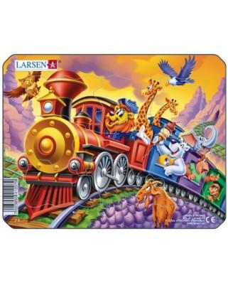 Puzzle Larsen - Train, 8 piese (48489)