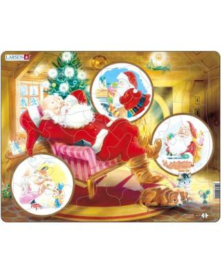 Puzzle Larsen - Traumender Weihnachtsmann, 33 piese (48438)