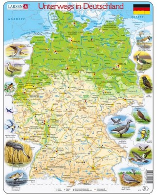 Puzzle Larsen - Travelling in Germany (German), 91 piese (48138)