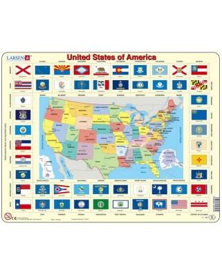Puzzle Larsen - United States of America (auf Englisch), 70 piese (48661)