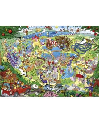 Puzzle Heye - Anders Lyon: Fun Park Trip, 1.000 piese (63221)