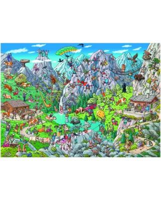 Puzzle Heye - Birgit Tanck: Alpine Fun, 1.000 piese (49476)