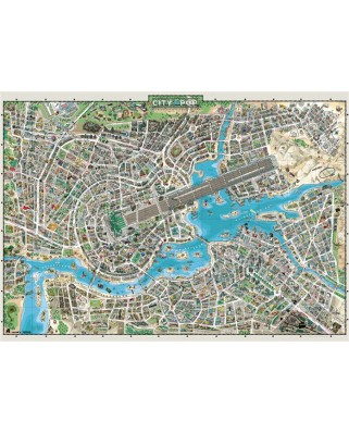 Puzzle Heye - City of Pop, 2.000 piese (65188)