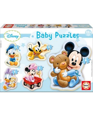 Puzzle Educa - Baby Puzzles - Disney : Mickey, 3/4/4 piese (13813)